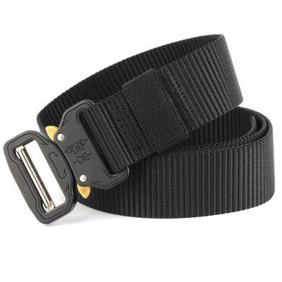 Tactical Belt  Adjustable Military Style Nylon Belt with Metal Buckle Outdoor SportMens Belts<br>Tactical Belt  Adjustable Military Style Nylon Belt with Metal Buckle Outdoor Sport<br><br>Belt Length: 125CM<br>Belt Material: Canvas,Knitted<br>Belt Silhouette: Buckle<br>Belt Width: 4.5CM<br>Buckle Length: 6.0CM<br>Buckle Width: 5.5CM<br>Gender: For Men<br>Group: Adult<br>Package Contents: 1 X Belt<br>Package size (L x W x H): 15.00 x 15.00 x 10.00 cm / 5.91 x 5.91 x 3.94 inches<br>Package weight: 0.3000 kg<br>Pattern Type: Geometric<br>Product size (L x W x H): 125.00 x 4.50 x 0.50 cm / 49.21 x 1.77 x 0.2 inches<br>Product weight: 0.2700 kg<br>Style: Active