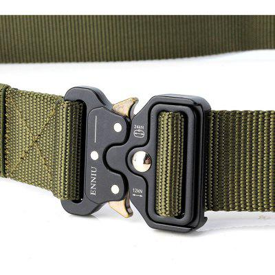 Multi-Function Quick-release Military Style Shooters Nylon Tactical Belt with Metal BuckleMens Belts<br>Multi-Function Quick-release Military Style Shooters Nylon Tactical Belt with Metal Buckle<br><br>Belt Length: 125CM<br>Belt Material: Canvas,Metal,Knitted<br>Belt Silhouette: Wide Belt<br>Belt Width: 3.8CM<br>Buckle Length: 6CM<br>Buckle Width: 5CM<br>Gender: For Men<br>Group: Adult<br>Package Contents: 1 X Belt<br>Package size (L x W x H): 10.00 x 10.00 x 5.00 cm / 3.94 x 3.94 x 1.97 inches<br>Package weight: 0.2500 kg<br>Pattern Type: Polka Dot<br>Product size (L x W x H): 125.00 x 3.80 x 0.30 cm / 49.21 x 1.5 x 0.12 inches<br>Product weight: 0.2000 kg<br>Style: Active