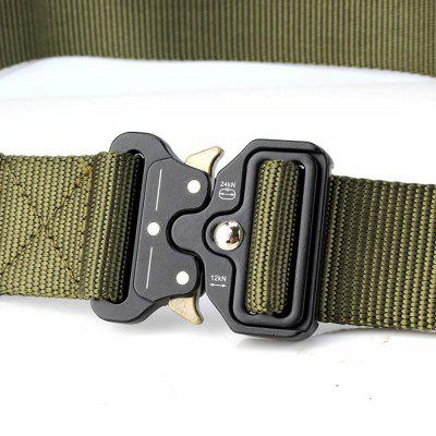 Quick Dry Multi-Function Tactical Military Belt Outdoor Hiking  Nylon Belt with Metal BuckleMens Belts<br>Quick Dry Multi-Function Tactical Military Belt Outdoor Hiking  Nylon Belt with Metal Buckle<br><br>Belt Length: 125CM<br>Belt Material: Canvas,Metal,Knitted<br>Belt Silhouette: Wide Belt<br>Belt Width: 3.8CM<br>Buckle Length: 6CM<br>Buckle Width: 5CM<br>Gender: For Men<br>Group: Adult<br>Package Contents: 1 X Belt<br>Package size (L x W x H): 10.00 x 10.00 x 5.00 cm / 3.94 x 3.94 x 1.97 inches<br>Package weight: 0.2500 kg<br>Pattern Type: Solid<br>Product size (L x W x H): 125.00 x 3.80 x 0.30 cm / 49.21 x 1.5 x 0.12 inches<br>Product weight: 0.2000 kg<br>Style: Active