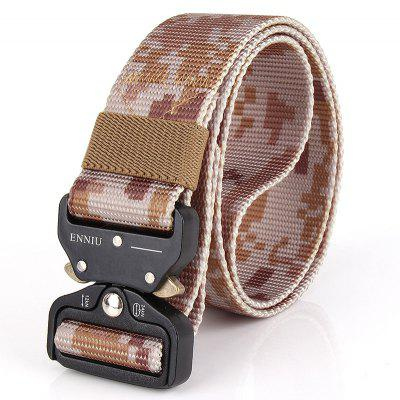 Multi-Function Camouflage Tactical Belt Military Style Shooters Nylon Belt with Metal Buckle