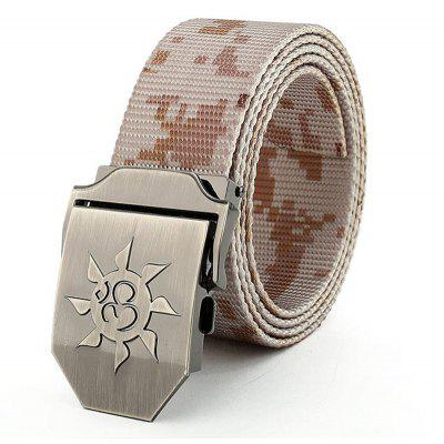 Fahsion Sun Shape Adjustable Multi-Function Tactical Military Nylon Waist Belt with Metal Buckle