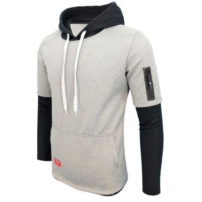 Long Sleeved Fleece Fashion  HoodieMens Hoodies &amp; Sweatshirts<br>Long Sleeved Fleece Fashion  Hoodie<br><br>Fabric Type: Terry<br>Material: Cotton, Modal<br>Package Contents: 1 x Hoodie<br>Shirt Length: Regular<br>Sleeve Length: Full<br>Style: Casual<br>Weight: 0.4000kg