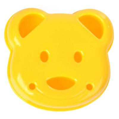 Cartoon Bear Design Sandwich Cutter Bread Biscuits Embossed Device Cake Tools Rice Balls Lunch DIY Mould Tool