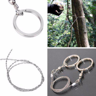 Outdoor Camping Hiking Manual Hand Steel Rope Chain Saw Portable Practical Emergency Survival Gear Steel Wire Kits Trave
