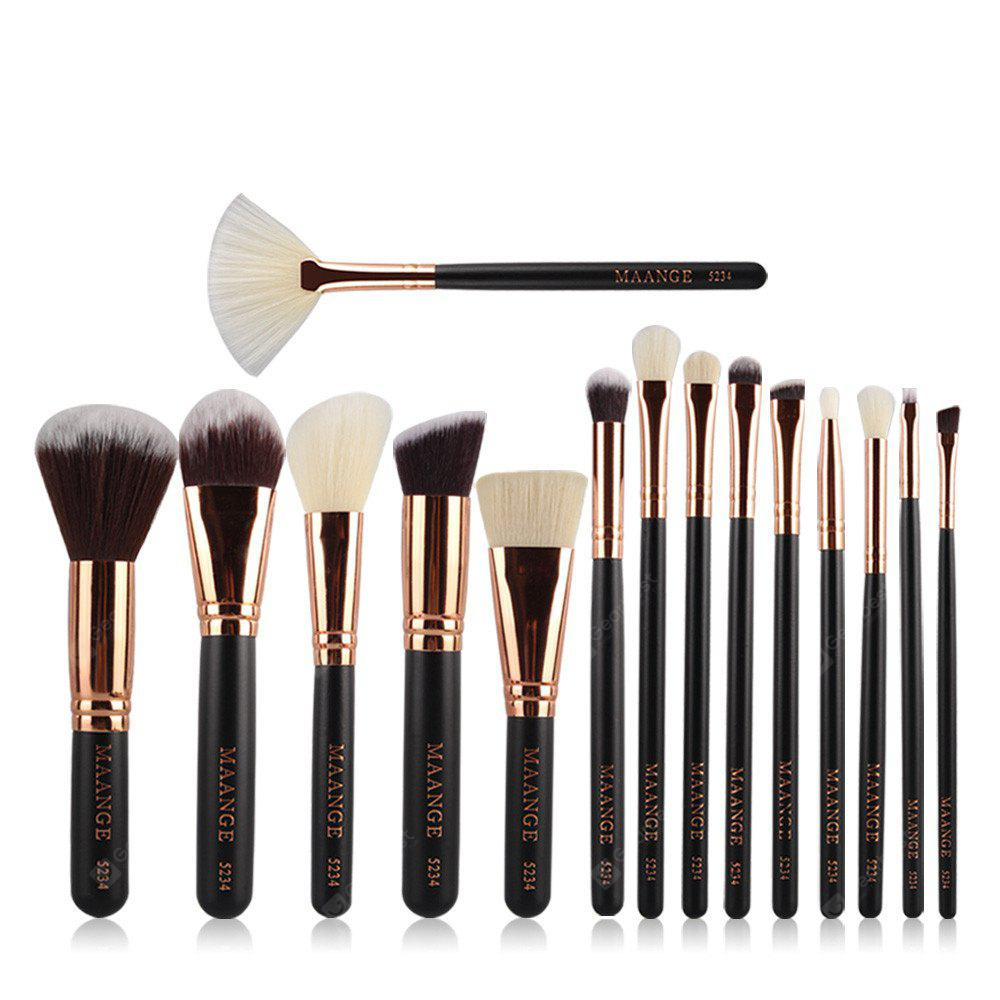 MAANGE Professional Luxury Complete Makeup Brushes Tools 15PCS