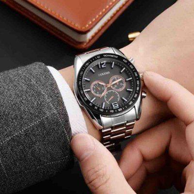 High Mens Steel Watch Large Dial Three QuartzMens Watches<br>High Mens Steel Watch Large Dial Three Quartz<br><br>Available Color: Silver,Black,White and Black<br>Band material: Fine steel<br>Band size: 255mm<br>Case material: Stainless Steel<br>Clasp type: Sheet folding clasp<br>Dial size: 42mm x 22mm<br>Display type: Analog<br>Movement type: Quartz watch<br>Package Contents: 1x watch<br>Package size (L x W x H): 30.00 x 5.00 x 5.00 cm / 11.81 x 1.97 x 1.97 inches<br>Package weight: 0.1200 kg<br>Product size (L x W x H): 25.50 x 4.20 x 2.20 cm / 10.04 x 1.65 x 0.87 inches<br>Product weight: 0.0930 kg<br>Shape of the dial: Round<br>Special features: Decorative sub-dial, Date, Light<br>Watch mirror: Mineral glass<br>Watch style: Business, Fashion<br>Watches categories: Men