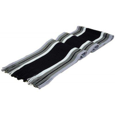 Winter Men Faux Cashmere Striped Knitted Scarvess