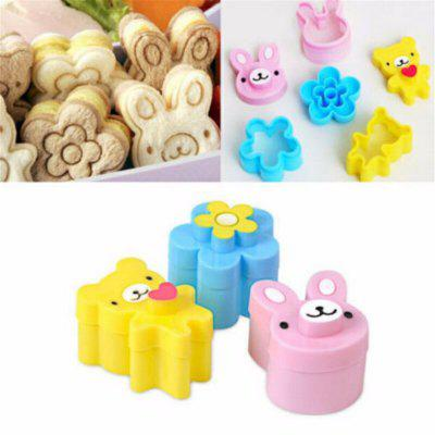 Cute bear flower bunny sandwich moldOther Kitchen Accessories<br>Cute bear flower bunny sandwich mold<br><br>Material: Plastic<br>Package Contents: 3 x Mold<br>Package size (L x W x H): 10.00 x 5.00 x 5.00 cm / 3.94 x 1.97 x 1.97 inches<br>Package weight: 0.0400 kg<br>Type: Other Kitchen Accessories