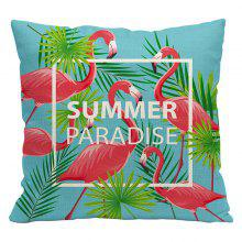 Nordic Style Flamingo Polyester Linen Blended Sofa Bedroom Pillowcase Cushion Cushions Decorative Cloth