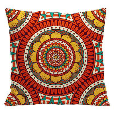 Ethnic Style Pillowcase Cotton and Linen Pillow Office Living Room Cushion Car Decoration- STYLE5 RED