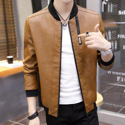 008  Synthetic Leather Jacket Stand Collar Solid Zipper OutwearMens Jackets &amp; Coats<br>008  Synthetic Leather Jacket Stand Collar Solid Zipper Outwear<br><br>Clothes Type: Leather &amp; Suede<br>Materials: PU<br>Package Content: 1xcoat<br>Package size (L x W x H): 1.00 x 1.00 x 1.00 cm / 0.39 x 0.39 x 0.39 inches<br>Package weight: 0.8000 kg<br>Size1: M,L,XL,4XL,2XL,3XL