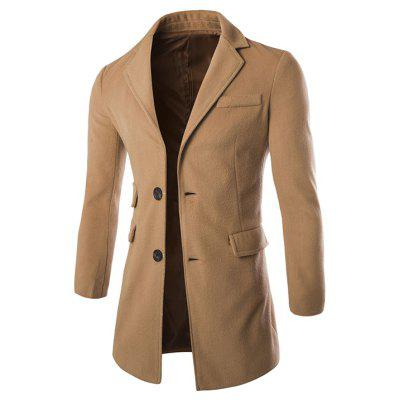 Men\s Neckband Faux Leather Stylish Trench CoatMens Jackets &amp; Coats<br>Men\s Neckband Faux Leather Stylish Trench Coat<br><br>Closure Type: Single Breasted<br>Clothes Type: Trench<br>Coat: None<br>Collar: Turn-down Collar<br>Hooded: No<br>Materials: Cotton Blend<br>Package Content: 1x Coat<br>Package size (L x W x H): 1.00 x 1.00 x 1.00 cm / 0.39 x 0.39 x 0.39 inches<br>Package weight: 0.5800 kg<br>Shirt Length: Regular<br>Size1: M,L,XL,2XL<br>Style: Fashion