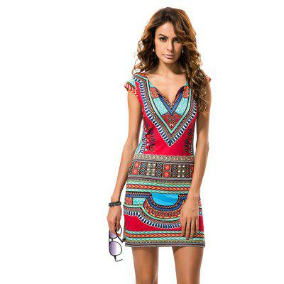 Ethnic Style V Neckline DressBodycon Dresses<br>Ethnic Style V Neckline Dress<br><br>Dresses Length: Mini<br>Elasticity: Elastic<br>Fabric Type: Broadcloth<br>Material: Polyester<br>Neckline: V-Neck<br>Package Contents: 1xDress<br>Pattern Type: Geometric<br>Season: Spring, Fall<br>Silhouette: Sheath<br>Sleeve Length: Short Sleeves<br>Style: Fashion<br>Weight: 0.1500kg<br>With Belt: No