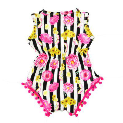 SOSOCOER Newborn Infant Girls Bodysuits The 2018 Summer Fringe Flower Hair Ball Romperbaby rompers<br>SOSOCOER Newborn Infant Girls Bodysuits The 2018 Summer Fringe Flower Hair Ball Romper<br><br>Brand: SOSOCOER<br>Closure Type: Pullover<br>Collar: Round Neck<br>Color: Black,White<br>Gender: Girl<br>Material: Cotton, Cotton Polyester<br>Package Contents: 1 x Romper<br>Pattern Style: Floral<br>Season: Summer<br>Sleeve Length: Sleeveless<br>Style: Personality<br>Thickness: General<br>Weight: 0.1100kg