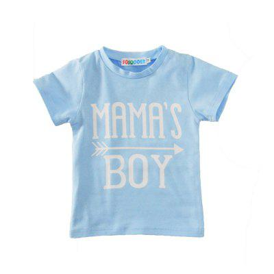 SOSOCOER Kids Boys Clothes Set Letter Short Sleeved T - Shirt + Triangular Print Pants Two PieceBoys Clothing Sets<br>SOSOCOER Kids Boys Clothes Set Letter Short Sleeved T - Shirt + Triangular Print Pants Two Piece<br><br>Brand: SOSOCOER<br>Closure Type: Pullover<br>Collar: Round Neck<br>Color: White,Blue<br>Fabric Type: Broadcloth<br>Gender: Boy<br>Package Contents: 1 x T-shirt, 1 x Pair of Pants<br>Package size (L x W x H): 15.00 x 10.00 x 2.00 cm / 5.91 x 3.94 x 0.79 inches<br>Package weight: 0.1700 kg<br>Pattern Style: Geometric,Letter<br>Product weight: 0.1600 kg<br>Season: Summer<br>Sleeve Length: Short<br>Sleeve Style: Regular<br>Style: Fashion<br>Thickness: General<br>Weight: 0.1700kg