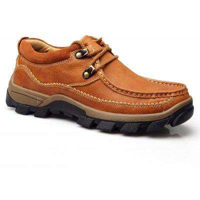 Men's Outdoor Leisure Wear Resistant Breathable Leather Shoes