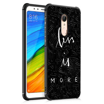 Custodia Cover per Xiaomi Redmi 5 Alphabet Graffiti Design Ultra Slim Custodia rigida in silicone nero TPU antiurto