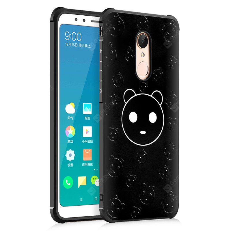 Custodia rigida per Xiaomi Redmi 5 Plus Custodia Rigida in Silicone Nero Panda Design Ultra Slim TPU Antiurto