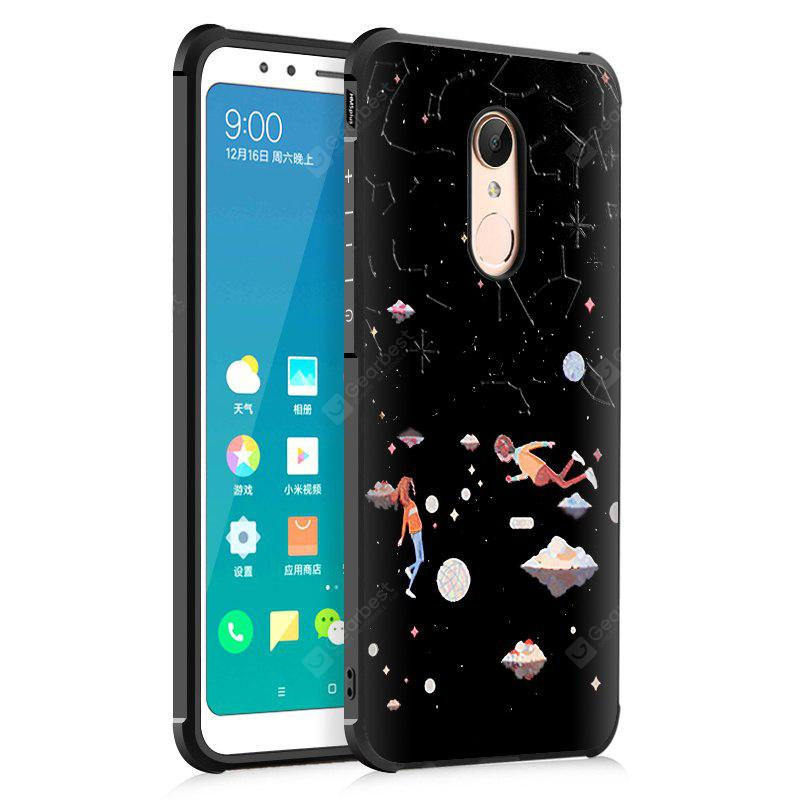 Custodia Cover per Xiaomi Redmi 5 Plus Star Sky Love Design Ultra Slim TPU antiurto Custodia posteriore in silicone nero morbida
