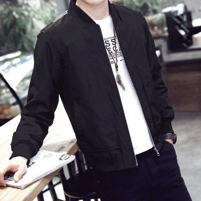 Mens Classic Solid Baseball Collar JacketMens Jackets &amp; Coats<br>Mens Classic Solid Baseball Collar Jacket<br><br>Clothes Type: Jackets<br>Collar: Stand Collar<br>Material: Polyester<br>Package Contents: 1 X Jacket<br>Season: Spring, Fall, Winter<br>Shirt Length: Regular<br>Sleeve Length: Long Sleeves<br>Style: Casual<br>Weight: 0.4000kg