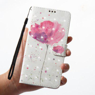 3D Painting Filp Case for Samsung Galaxy A8 2018 Lotus Pattern PU Leather Wallet Stand Cover