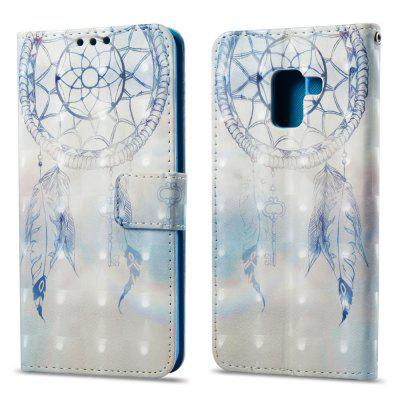 3D Painting Filp Case for Samsung Galaxy A8 Plus 2018 Dreamcatcher Pattern PU Leather Wallet Stand Cover