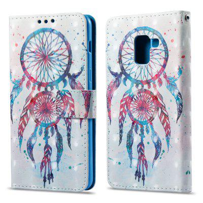 3D Painting Filp Case for Samsung Galaxy A8 Plus 2018 Color Bells Pattern PU Leather Wallet Stand Cover