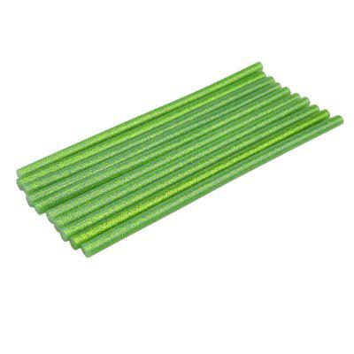 AETool 10Pcs Green 7X180mm Hot Melt Glue Sticks With Stars For Heat Glue Gun High Adhesive Repair Tool DIY Art Craft