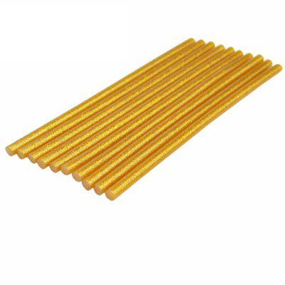 AETool 10Pcs Gold 7x180mm Hot Melt Glue Sticks 7mm for Electric Glue Gun Glitter Heating Tool DIY Art Craft