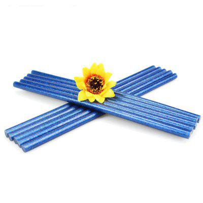 AETool 10pcs Blue 7x180mm Hot Melt Glue Sticks 7mm for Electric Glue Gun Glitter Heating Tool DIY Art Craft