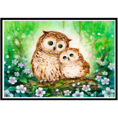 NAIYUE 6291 Two Owls Print Draw 5D Diamond Painting Diamond Embroidery