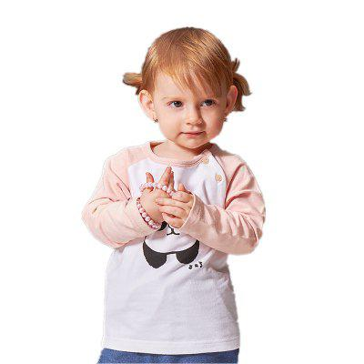 Real Full O-Neck 2017 Spring Girls Baby Casual Cute Cotton Sleeve Sweatshirt Pullover Top Shirts Clothing Tees