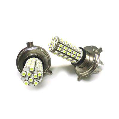 2PCS Car Foglight H4 HB2 10W 800LM 1210 68SMD LED H4 Bombilla Foglight