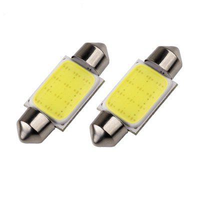 2PCS 36MM 5W COB LED Car Reading Light License Plate Light White