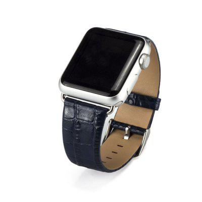 Leather Watch Band Strap Bracelet Replacement Wristband with Secure Metal Clasp Buckle for Apple Watch
