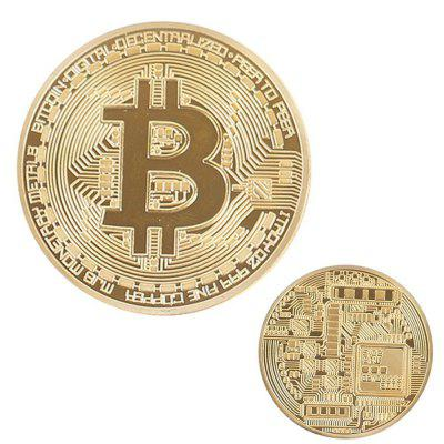 Gold Plated Bitcoin Coin Collectible Bitcoin Art Collection Gift