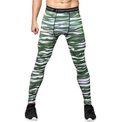 Men's Running Tights Gym Leggings Quick Dry Breathable Sweat Wicking Tights Bottoms Exercise Fitness RunningTight Pants