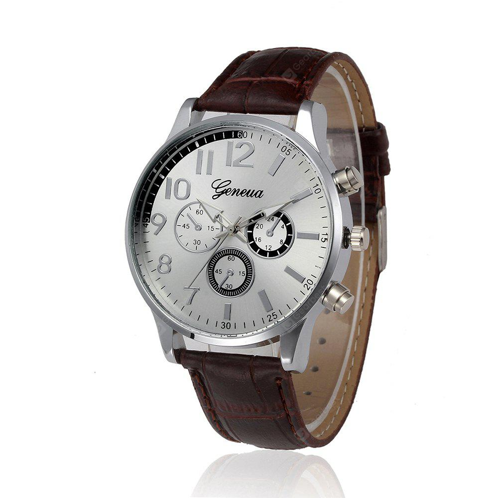 BROWN BAND WHITE DIAL, Watches & Jewelry, Men's Watches