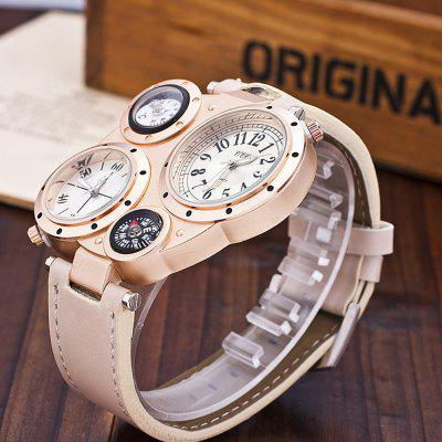 MenS Watch Multifunctional Compass Trendy Watch AccessoryMens Watches<br>MenS Watch Multifunctional Compass Trendy Watch Accessory<br><br>Available Color: Black<br>Band material: Leather<br>Band size: 2.2<br>Case material: Alloy<br>Clasp type: Pin buckle<br>Dial size: 4.8<br>Display type: Analog<br>Movement type: Quartz watch<br>Package Contents: 1 x Watch 1 x Box<br>Package size (L x W x H): 8.50 x 8.50 x 3.00 cm / 3.35 x 3.35 x 1.18 inches<br>Package weight: 0.1000 kg<br>Product size (L x W x H): 25.00 x 4.80 x 1.30 cm / 9.84 x 1.89 x 0.51 inches<br>Product weight: 0.0650 kg<br>Shape of the dial: Rectangle<br>Special features: Working sub-dial, Multi Time Zones, Thermometer<br>Watch mirror: Mineral glass<br>Watch style: Casual, Military, Business, Fashion, Outdoor Sports<br>Watches categories: Men<br>Water resistance: Life water resistant<br>Wearable length: 25
