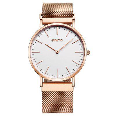 Buy GIMTO Simple Women Watches Luxury Brand Ladies Full Steel Clock Quartz Gold Bracelet Lovers Watch Men Sport Relogio ROSE GOLD AND WHITE for $33.04 in GearBest store