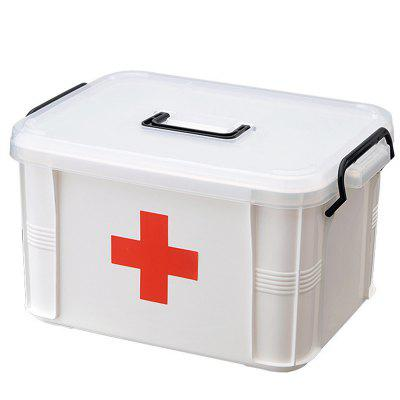 1Pc Large Handheld Home First Aid Medical Collection Box