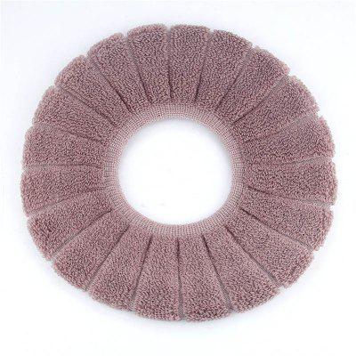 Buy O-Shape Toilet Seats Warm Thick Knitted Pumpkin Pattern Toilet Seat Cushion Diameter TAUPE for $2.76 in GearBest store