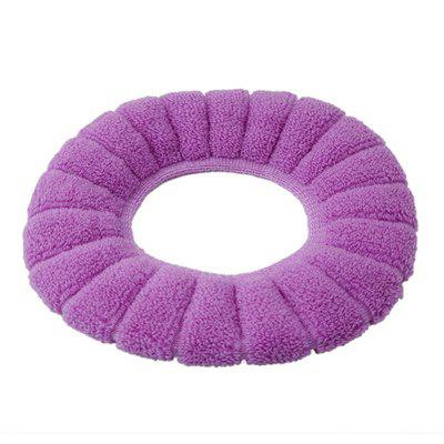 Buy O-Shape Toilet Seats Warm Thick Knitted Pumpkin Pattern Toilet Seat Cushion Diameter PURPLE for $2.76 in GearBest store