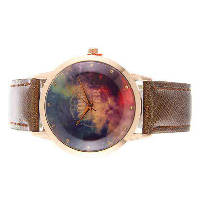Now Never Letters PU Leather Women Watch