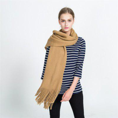 M1699 Pure Color Tassel Like Cashmere Knitted Wool ScarfScarves<br>M1699 Pure Color Tassel Like Cashmere Knitted Wool Scarf<br><br>Elasticity: Micro-elastic<br>Gender: For Women<br>Group: Adult<br>Material: Acrylic<br>Package Contents: 1 x scarf<br>Package size (L x W x H): 1.00 x 1.00 x 1.00 cm / 0.39 x 0.39 x 0.39 inches<br>Package weight: 0.3000 kg<br>Product weight: 0.3000 kg<br>Scarf Type: Scarf<br>Season: Winter, Fall, Spring<br>Style: Fashion