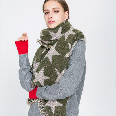 M1704 Pentagram Pattern Imitation Cashmere Warm Fringed ScarfScarves<br>M1704 Pentagram Pattern Imitation Cashmere Warm Fringed Scarf<br><br>Elasticity: Micro-elastic<br>Gender: For Women<br>Group: Adult<br>Material: Acrylic<br>Package Contents: 1 x scarf<br>Package size (L x W x H): 1.00 x 1.00 x 1.00 cm / 0.39 x 0.39 x 0.39 inches<br>Package weight: 0.3350 kg<br>Product weight: 0.3350 kg<br>Scarf Type: Scarf<br>Season: Winter, Fall, Spring<br>Style: Fashion
