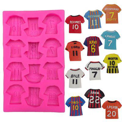 Sport T-Shirt Chocolate Mold 3D Kid Sport Shoe Candy Sugar Paste Molds Cake DIY Home Baking Tools