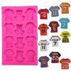 Sport T-Shirt Chocolate Mold 3D Kid Sport Shoe Candy Sugar Paste Molds Cake DIY Home Baking Tools - PINK