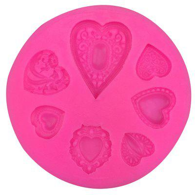 3D Silicone Heart Stone Xmas Fondant Cake Sugar Craft Decorating Mold Baking Tools