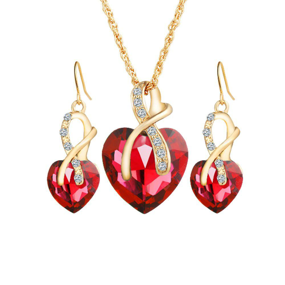 Luxury Crystal Earrings Necklace Jewelry Set